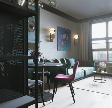 luxury monkey/ design project smart apartment Kiev