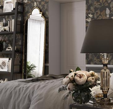 Спальня в стиле Американской классики (Bedroom in the style of American classics)