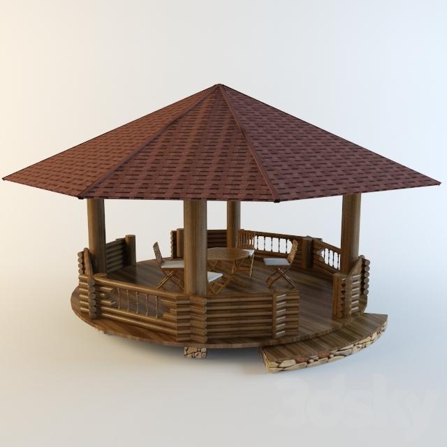 3d models: Building - Gazebo