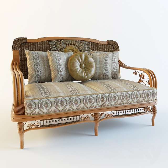 Couch rattan