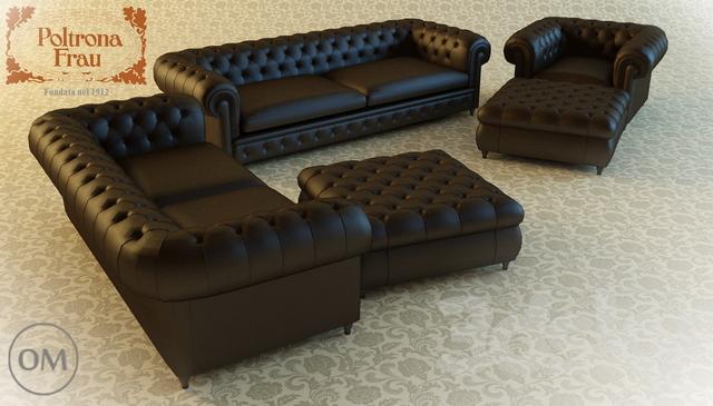 3d models sofa poltrona frau chester one for Chester poltrona frau