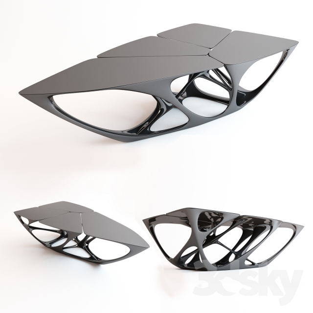 3d models table mesa vitra edition table by zaha hadid for Mesa table design by zaha hadid for vitra