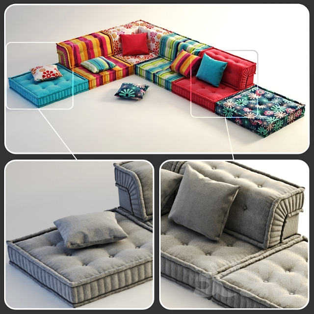 3d models sofa roche bobois mah jong for Sofa chill out exterior