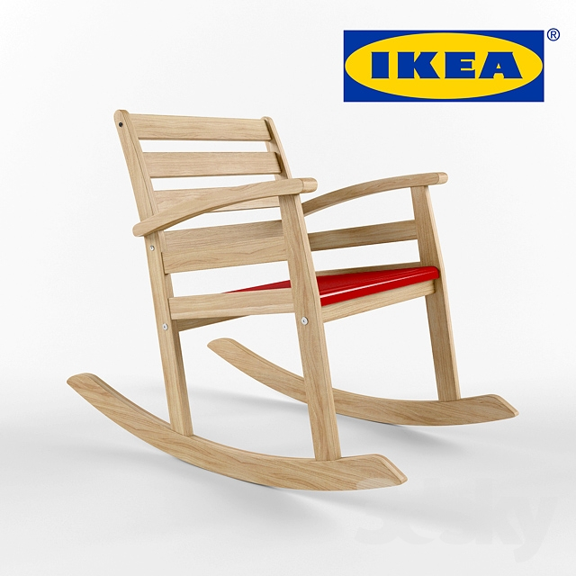 3d models table chair ikea rofylld rocking chair. Black Bedroom Furniture Sets. Home Design Ideas