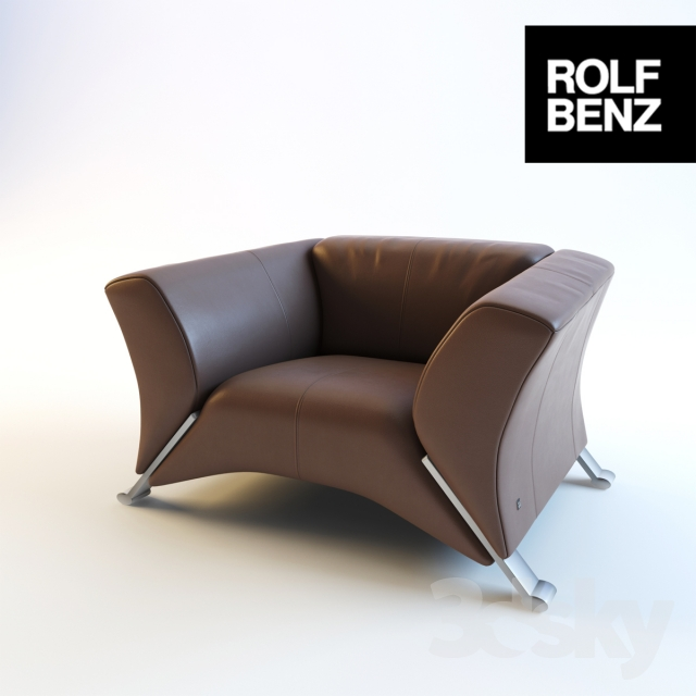 3d models: Arm chair - Rolf Benz 322