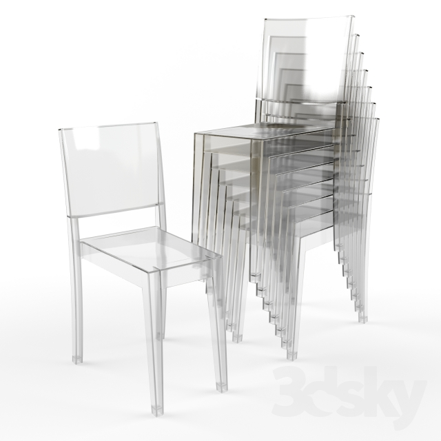 3d models: Chair - Kartell / La Marie