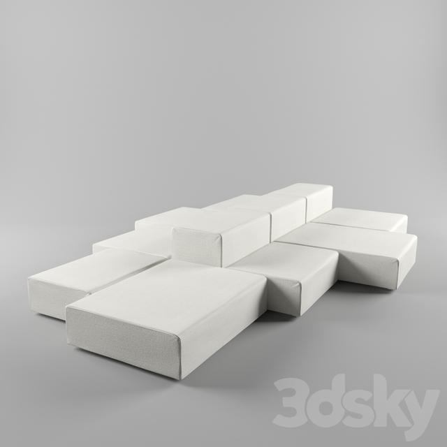 3d models: Sofa - LIVING DIVANI / EXTRA WALL