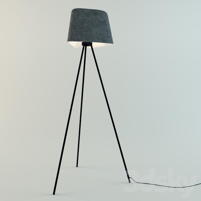 3d models floor lamp tom dixonfelt shade tripod stand tom dixonfelt shade tripod stand aloadofball Images