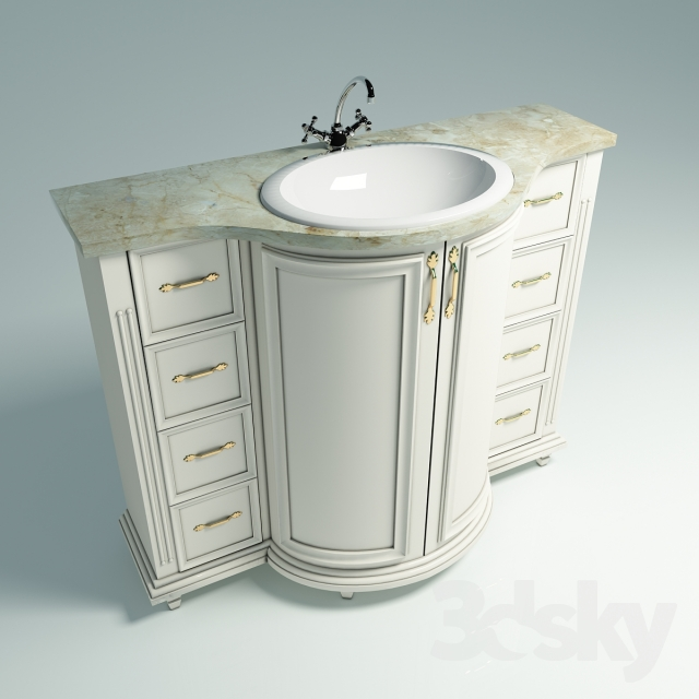 floor standing base unit with the marble top