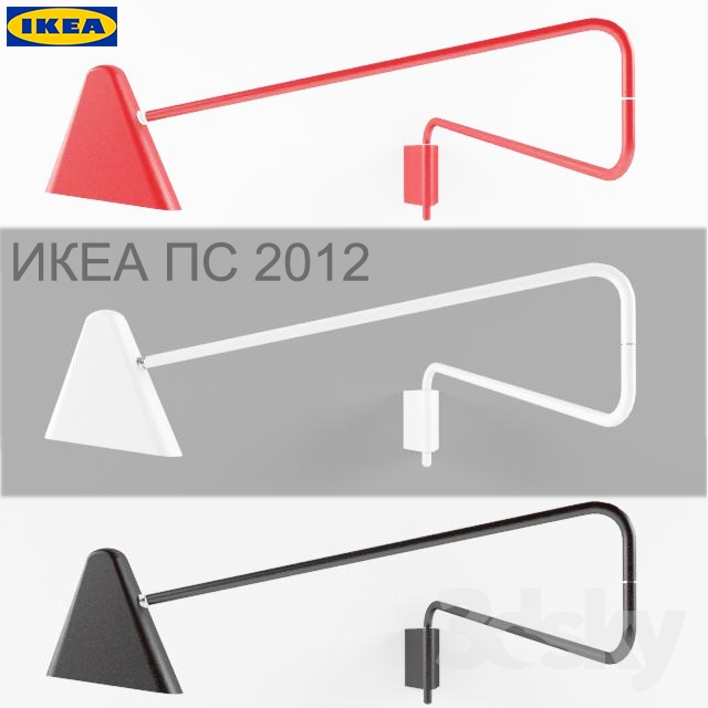 3d models wall light ikea ps 2012. Black Bedroom Furniture Sets. Home Design Ideas