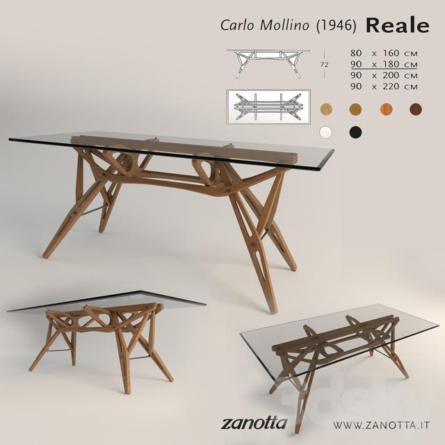 3d Models Table Zanotta Reale 180 90