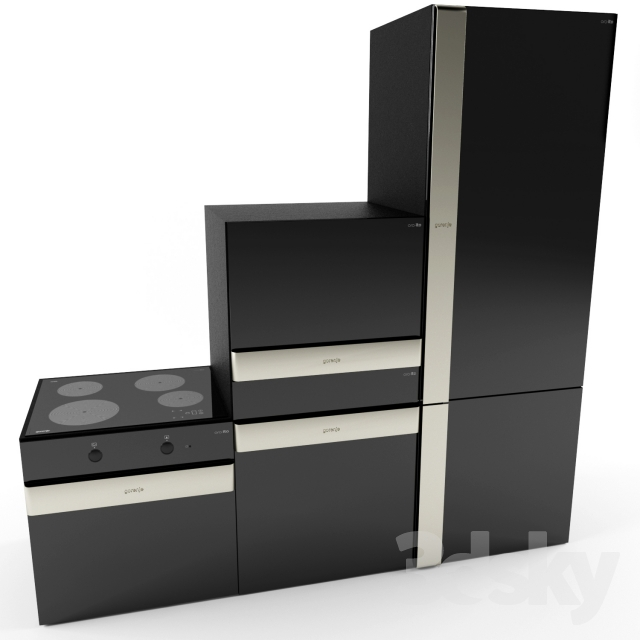3d models kitchen appliance gorenje ora ito black. Black Bedroom Furniture Sets. Home Design Ideas