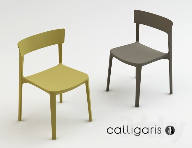 3d models chair calligaris skin for Sedia skin calligaris