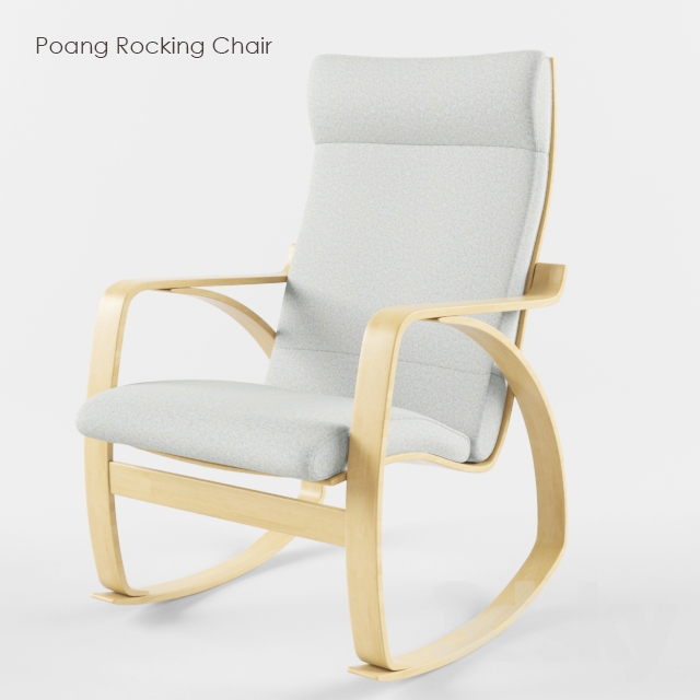 3d models arm chair ikea poang rocking chair. Black Bedroom Furniture Sets. Home Design Ideas