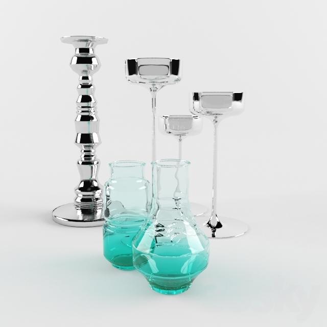 3d Models Vase Set Of Vases And Candlesticks Ikea