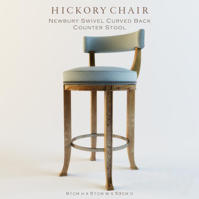 Enjoyable 3D Models Chair Newbury Swivel Curved Back Counter Stool Inzonedesignstudio Interior Chair Design Inzonedesignstudiocom