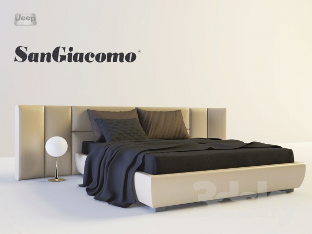 3d models: Bed - SanGiacomo Letti Gala