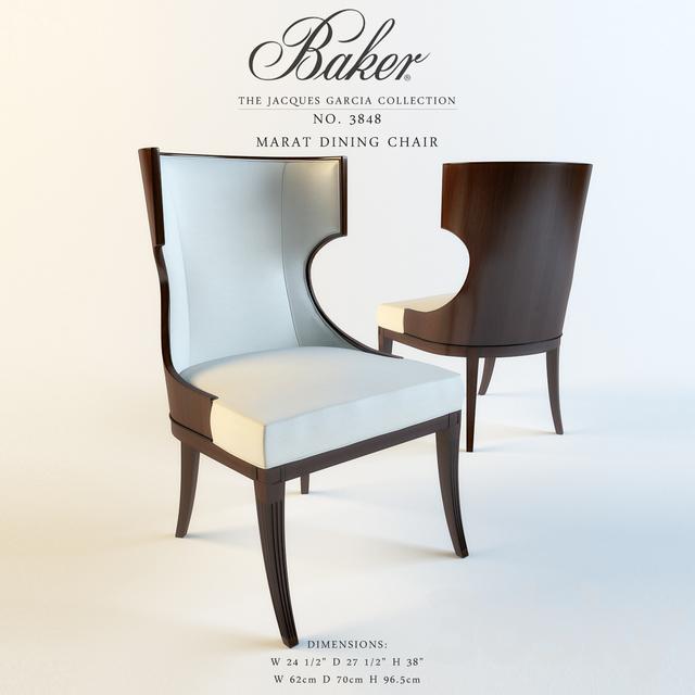 Peachy 3D Models Chair Baker Marat Dining Chair Evergreenethics Interior Chair Design Evergreenethicsorg