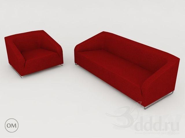 3d Models Sofa Artifort Diva