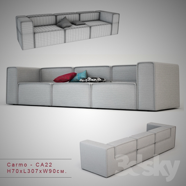3d models sofa carmo. Black Bedroom Furniture Sets. Home Design Ideas
