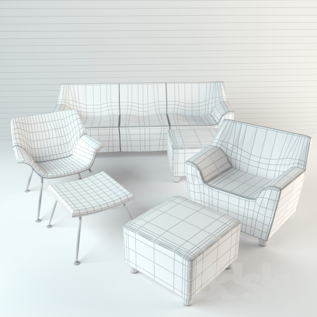 3d Models Sofa Herman Miller Swoop Lounge Furniture