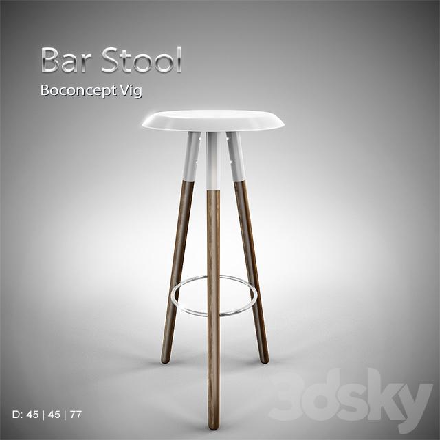 3d models chair boconcept vig bar stool. Black Bedroom Furniture Sets. Home Design Ideas