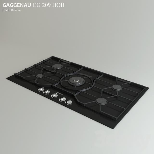 3d models kitchen appliance gaggenau cg 290. Black Bedroom Furniture Sets. Home Design Ideas