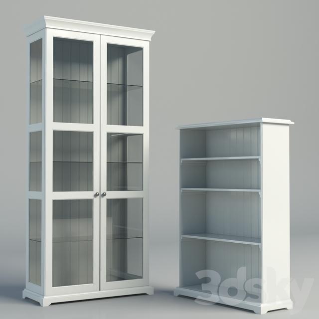 3d models wardrobe display cabinets ikea liatorp series racks. Black Bedroom Furniture Sets. Home Design Ideas