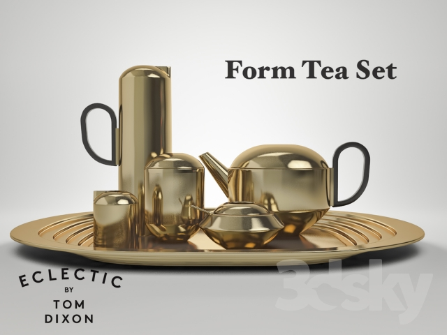 3d models tableware tom dixon form tea set. Black Bedroom Furniture Sets. Home Design Ideas
