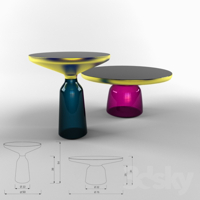 3d Models Table Tables Classicon Bell