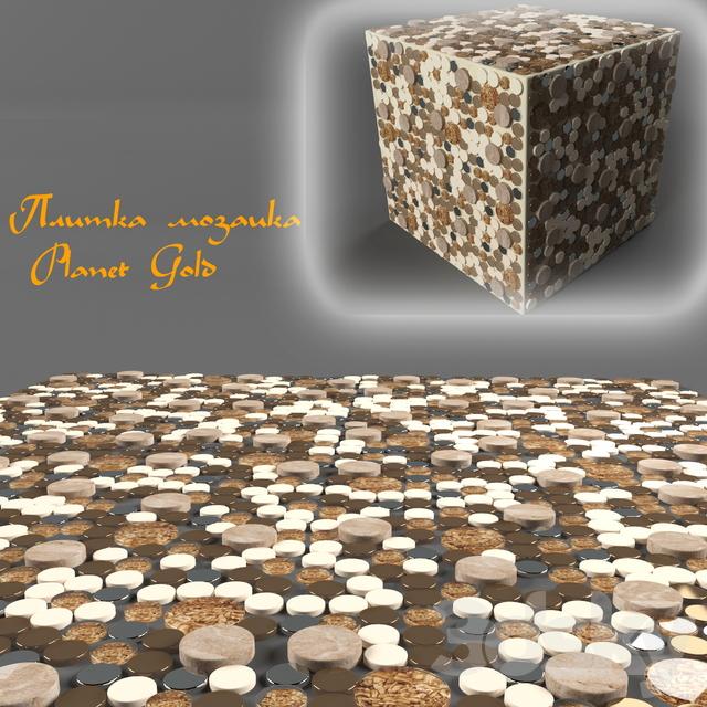3d Models Bathroom Accessories Tile Mosaic Planet Gold