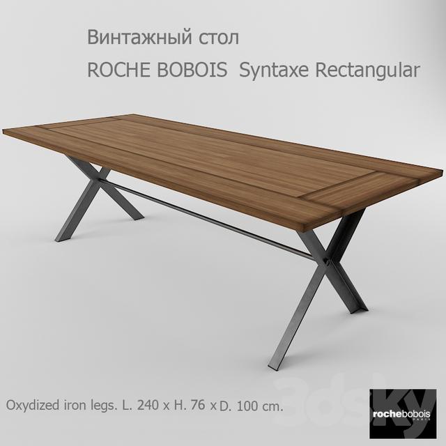 3d Models Table Roche Bobois Syntaxe Rectangular