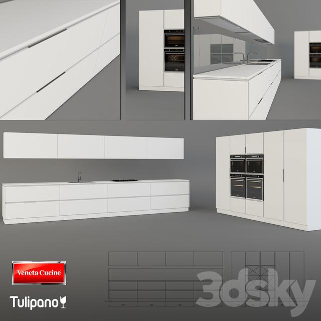Modelli 3d Veneta Cucine.3d Models Kitchen Veneta Cucine Tulipano