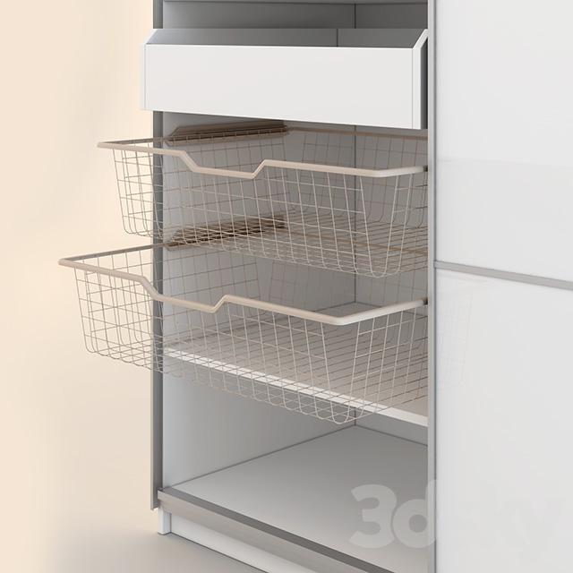 3d models wardrobe display cabinets ikea pax pax wardrobe. Black Bedroom Furniture Sets. Home Design Ideas