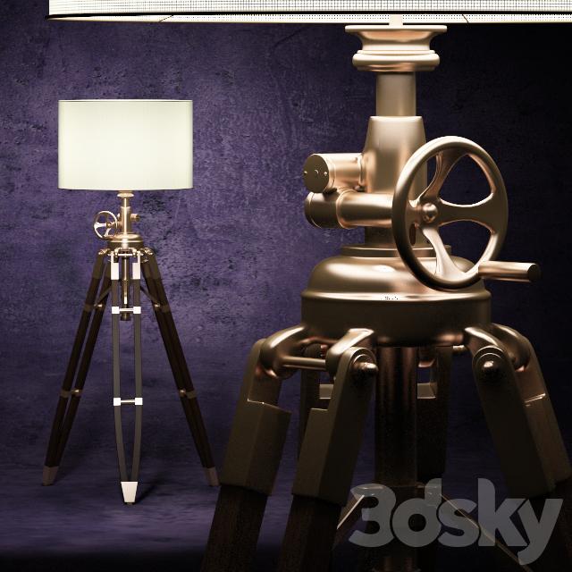 3d models: Floor lamp - Lamp Royal Marine (Eichholtz):Lamp Royal Marine (Eichholtz),Lighting