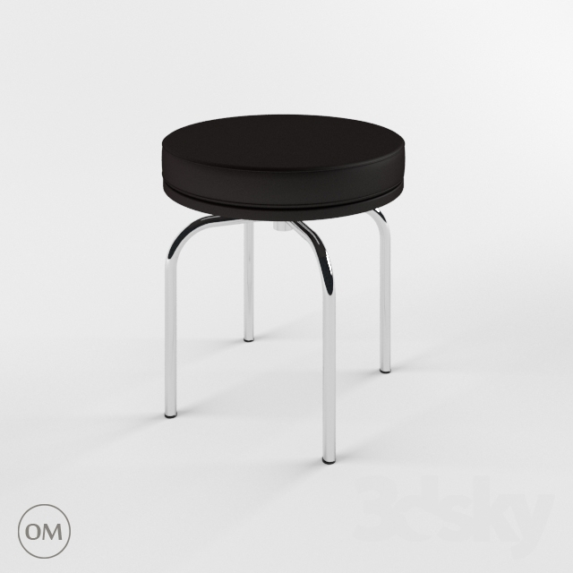 3d Models Chair Le Corbusier Lc8 Cassina