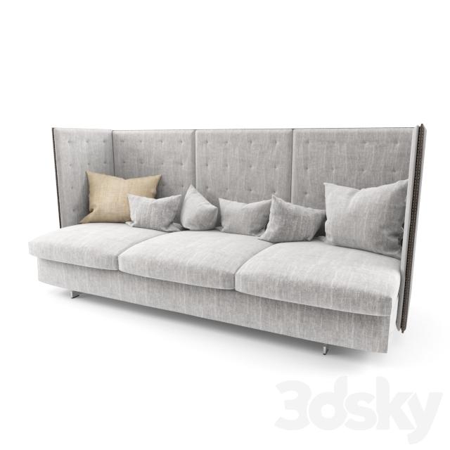 3d models: Sofa - Poltrona Frau GRAN TORINO HB 3 SEATER SOFA