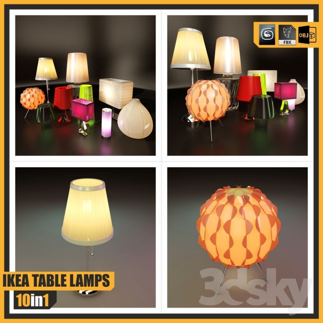 Excellent 3D Models Table Lamp Ikea Table Lamps 10 In 1 Download Free Architecture Designs Meptaeticmadebymaigaardcom