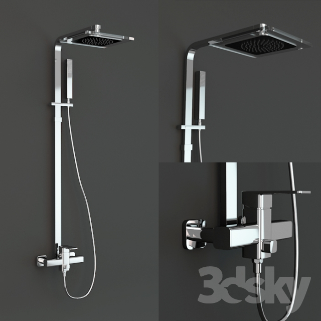 3d models: Faucet - damixa slate shower set