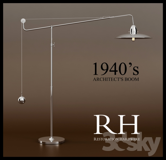 3d models floor lamp rh1940s architect39s boom floor lamp aloadofball Image collections
