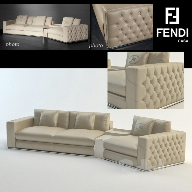 3d models sofa plaza sofa fendi casa for Sofa 2 plazas extensible