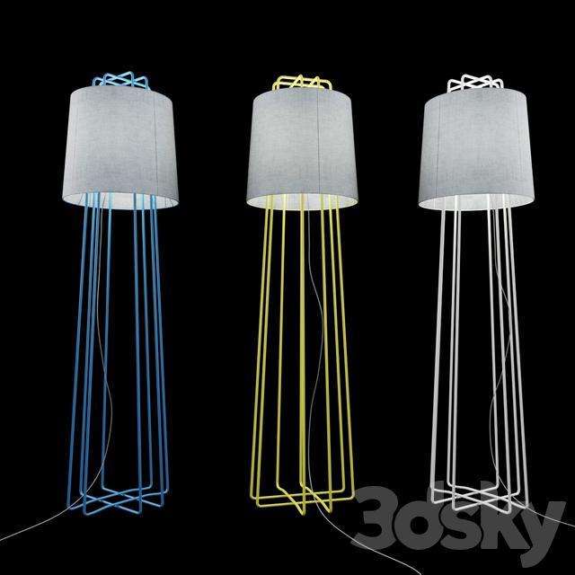 3d models: Floor lamp - Blu Dot / Perimeter Floor Lamp
