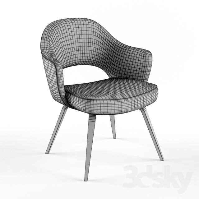3d Models Chair Knoll Saarinen Executive Arm Chair