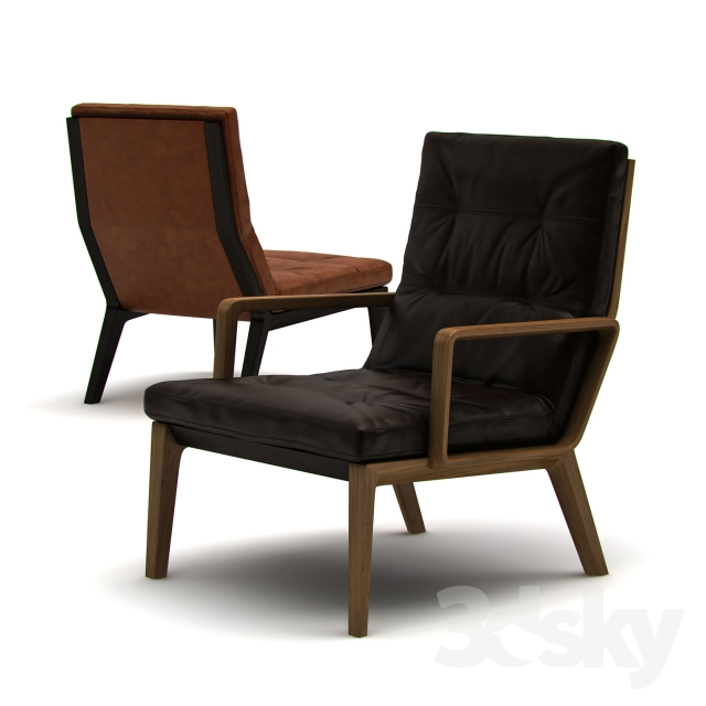 3d Models Arm Chair Walter Knoll Andoo Lounge Armchair
