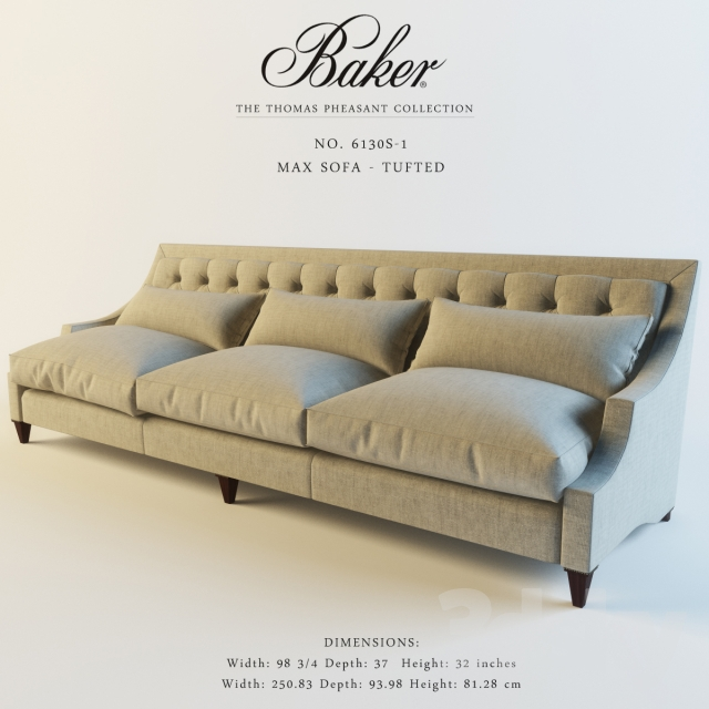 Cool 3D Models Sofa Baker 6130S 1 Max Sofa Tufted Download Free Architecture Designs Grimeyleaguecom