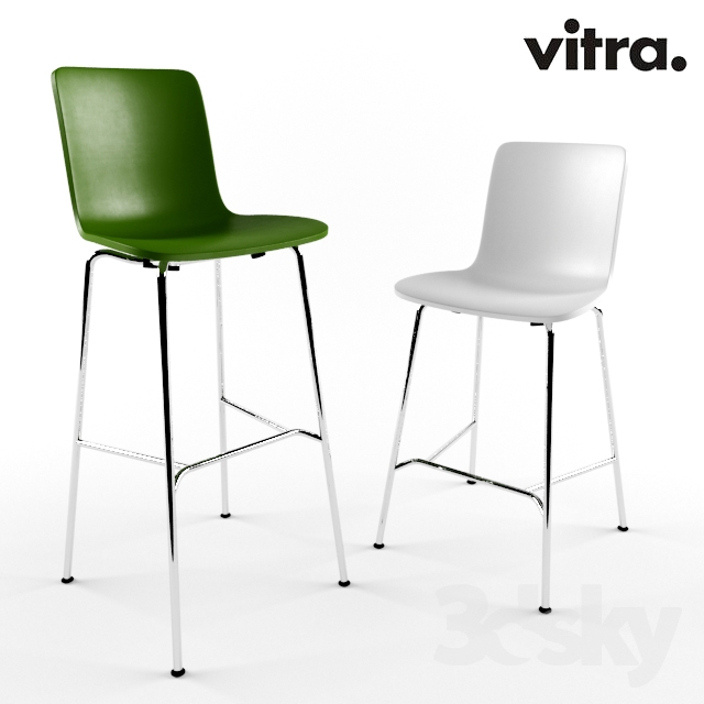 3d models chair vitra hal stool high medium. Black Bedroom Furniture Sets. Home Design Ideas