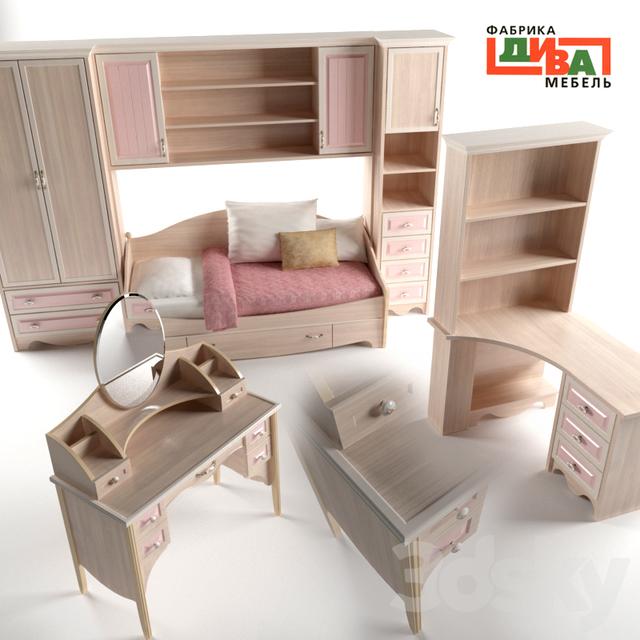 3d models Full furniture set Diva Furniture Nicole