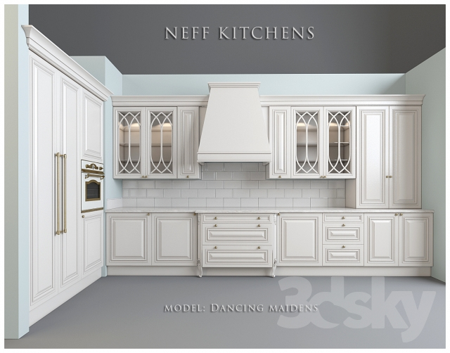 3d models: Kitchen - Kitchen Factory NEFF Kitchens. Model Dancing ...