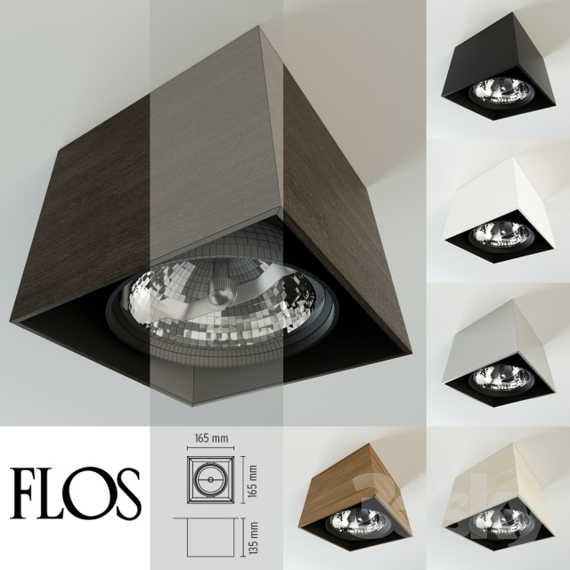 3d models spot light flos compass box. Black Bedroom Furniture Sets. Home Design Ideas