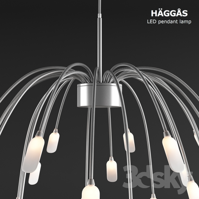 3d models ceiling light ikea haggas led pendant lamp aloadofball Choice Image